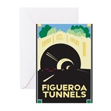 Figueroa Tunnels Greeting Cards (Pk of 20)