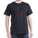 Hooligan Red Skull Black T-Shirt