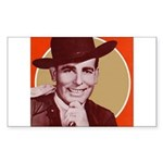 Bob Wills Classic Rectangle Sticker