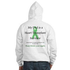 Dad Heart Transplant Hooded Sweatshirt