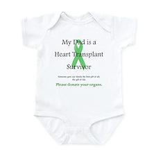 Dad Heart Transplant Infant Creeper