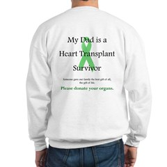 Dad Heart Transplant Sweatshirt