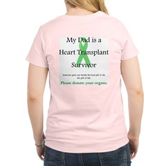 Dad Heart Transplant Women's Pink T-Shirt