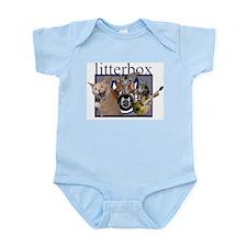 litterbox cat rock Infant Creeper