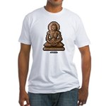 Emaciated Buddha Fitted T-shirt