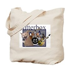 litterbox cat rock Tote Bag