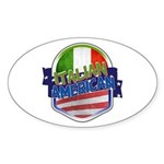 Italian American Sticker (Oval)