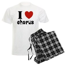 I Love Heart Chorus Pajamas