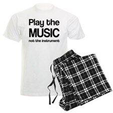 Play The Music Quote Men's Light Pajamas