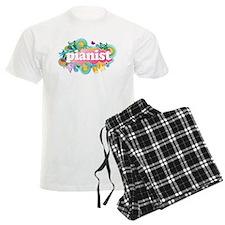 Retro Burst Piano Men's Light Pajamas