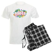 Retro Burst Viola Men's Light Pajamas