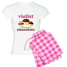 Funny Chocolate Viola Women's Light Pajamas