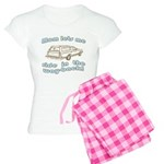Mom Lets Me Ride in the Way-b Women's Light Pajama