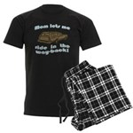 Mom Lets Me Ride in the Way-b Men's Dark Pajamas