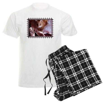 Cat and Ballet Slippers Men's Light Pajamas