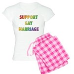 Support Gay Marriage Women's Light Pajamas