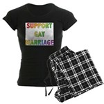 Support Gay Marriage Women's Dark Pajamas