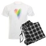 Rainbow Heart Men's Light Pajamas