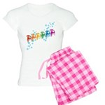 Rainbow Patio Chairs Women's Light Pajamas