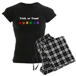 Rainbow Halloween Trick or Tr Women's Dark Pajamas