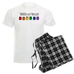 Rainbow Halloween Trick or Tr Men's Light Pajamas
