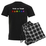 Rainbow Halloween Trick or Tr Men's Dark Pajamas