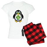 Green Irish Penguin pajamas