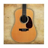 Acoustic Guitar Tile Coaster