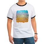 Yin Yang Organic Men's Fitted T-Shirt (dark)