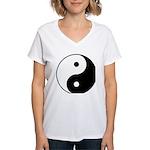 Yin Yang Women's V-Neck T-Shirt