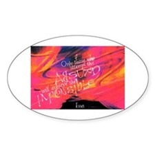 Escher Quote Pink Oval Decal