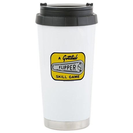 Gottlieb&reg; &quot;Flipper&quot; Logo Ceramic Travel Mug