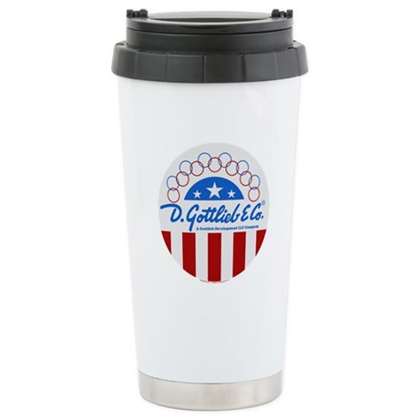"Gottlieb® ""Stars & Stripes"" Logo Ceramic Trave"