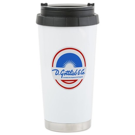 "Gottlieb® ""Sunburst"" Logo Ceramic Travel Mug"