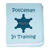 Policeman In Training baby blanket