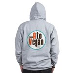 From A to Vegan Zip Hoodie