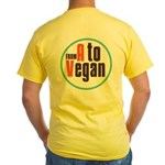 From A to Vegan Yellow T-Shirt