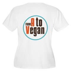 From A to Vegan Women's Plus Size V-Neck T-Shirt