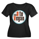 From A to Vegan Women's Plus Size Scoop Neck Dark
