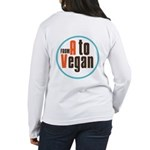 From A to Vegan Women's Long Sleeve T-Shirt