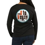 From A to Vegan Women's Long Sleeve Dark T-Shirt