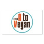 From A to Vegan Sticker (Rectangle 50 pk)