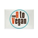 From A to Vegan Rectangle Magnet (100 pack)