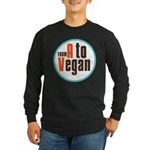 From A to Vegan Long Sleeve Dark T-Shirt