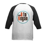 From A to Vegan Kids Baseball Jersey