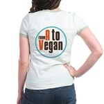 From A to Vegan Jr. Ringer T-Shirt