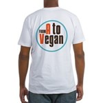 From A to Vegan Fitted T-Shirt