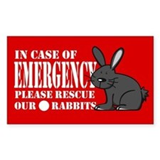 Rabbit Rescue Rectangle Bumper Stickers