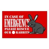 Rabbit Rescue Rectangle Decal