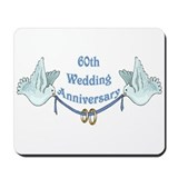 60th Wedding Anniversary Mousepad